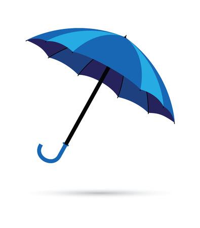 blue umbrella rain background