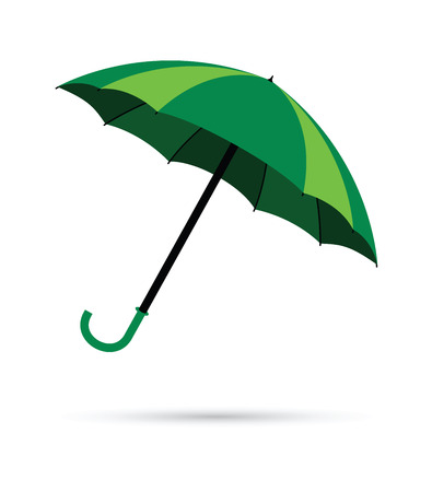rain background: green umbrella rain background