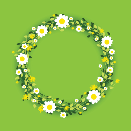 daisies: round floral daisy pattern Illustration