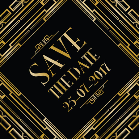 greatness: save the date wedding invitation