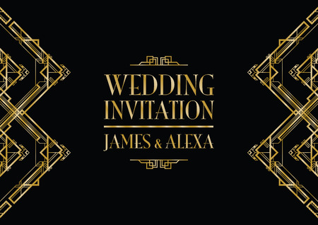 wedding  art: wedding invitation art deco