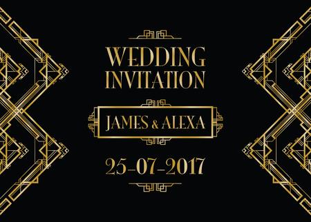 poster art: wedding invitation art deco