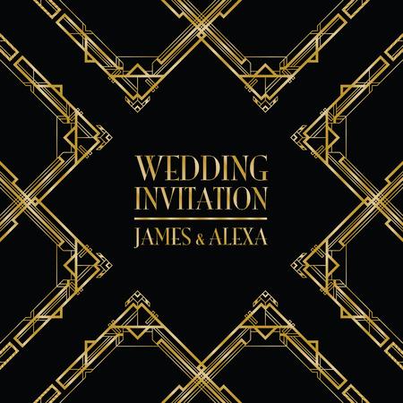 complimentary: wedding invitation art deco