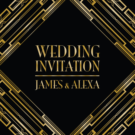 complimentary: wedding invitation art deco