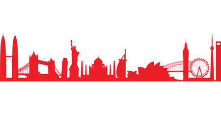 corporate buildings: world landmark group in red