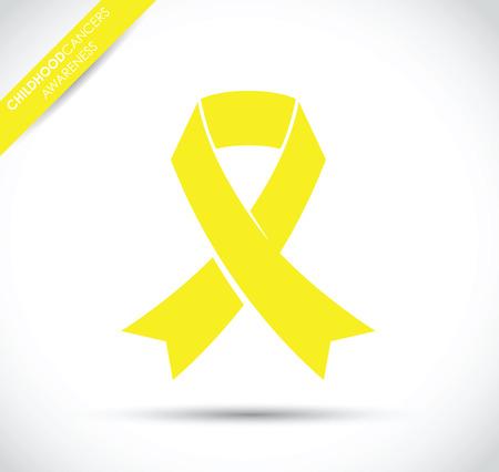 awareness ribbon: childhood awareness ribbon Illustration