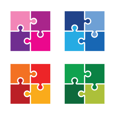 jigsaw pieces: colourful  jigsaw pieces background Illustration
