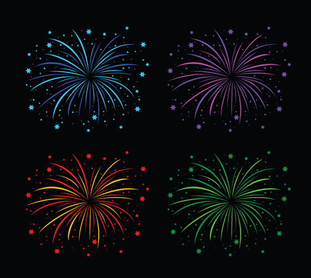 colourful fireworks background image