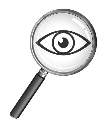 eye icon: microscope eye icon