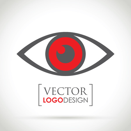 red eye: an abstract red eye icon