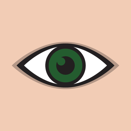 green eye: an abstract green eye icon
