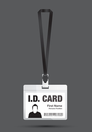 id card man in black