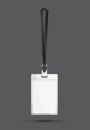 lanyard: black lanyard Illustration