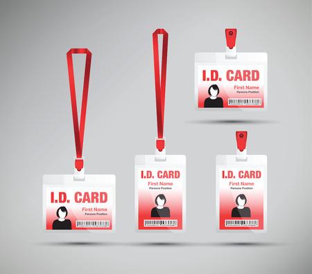 business card holder: id card woman blue
