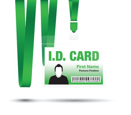 business card holder: id lanyard card