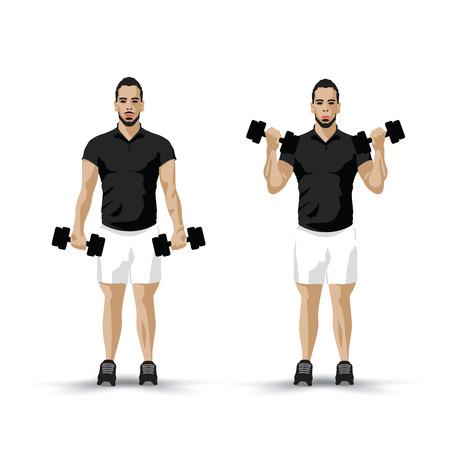 bicep curls: training biceps
