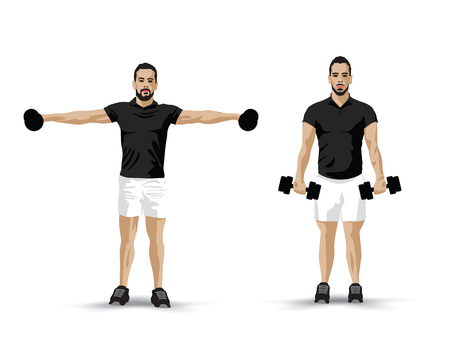 barbel: training fly weights Illustration