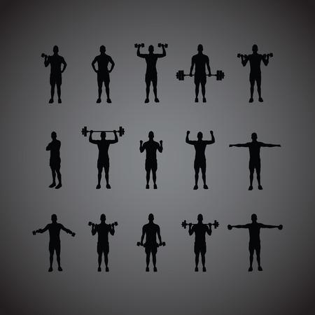 gym: training group black Illustration