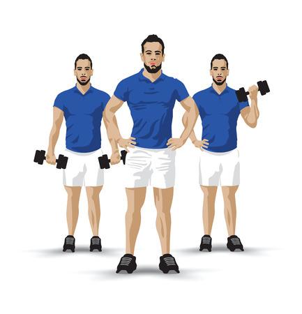 barbel: training group blue Illustration