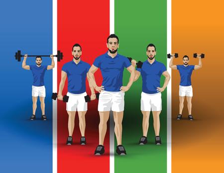 training group colour