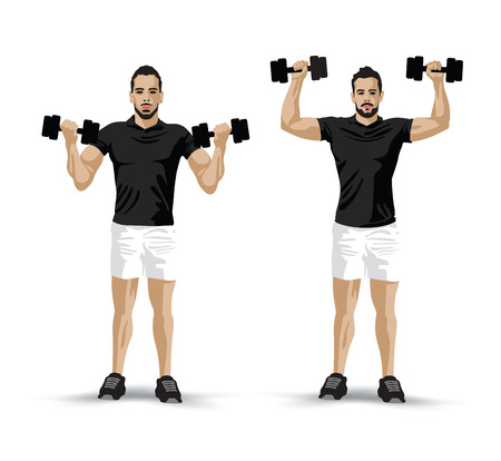 handsome men: lifting weights