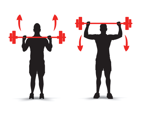 weights: lifting weights infographics Illustration