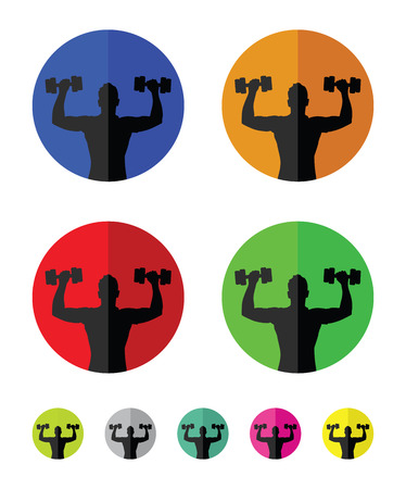 weight training: weight training group icons