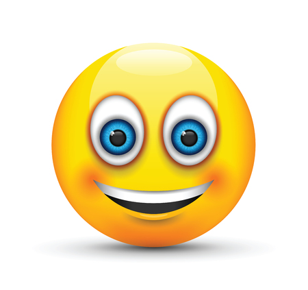 smiling emoji big realistic blue eyes