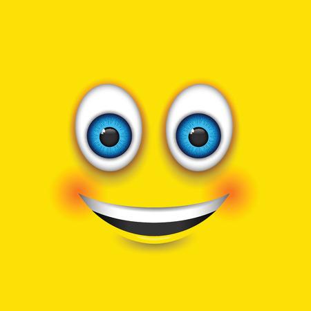 joking: smiling square emoji Illustration