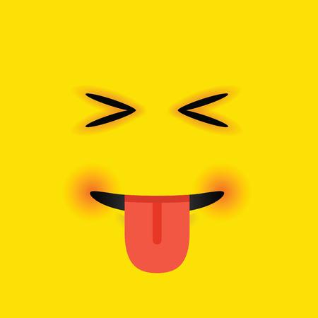 eyes closed: eyes closed tongue out emoji