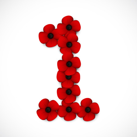 anzac: number one poppy background