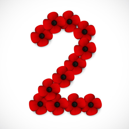 anzac: number two poppy background