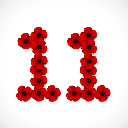 number eleven: number eleven poppies