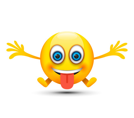 tongue out happy emoji Illustration