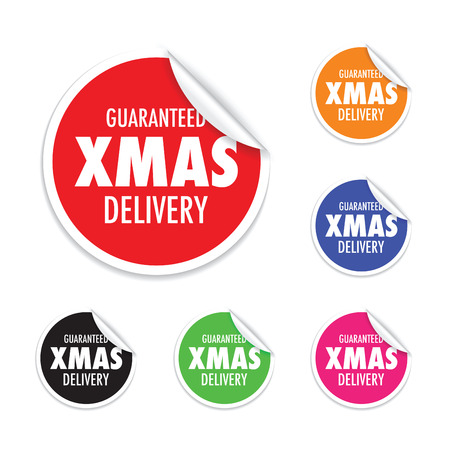 marked: christmas delivery tag label set