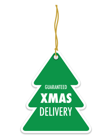 delivery icon: christmas delivery tag label Illustration
