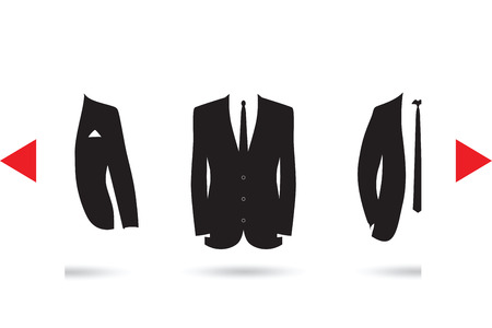 dinner wear: suit selection Illustration