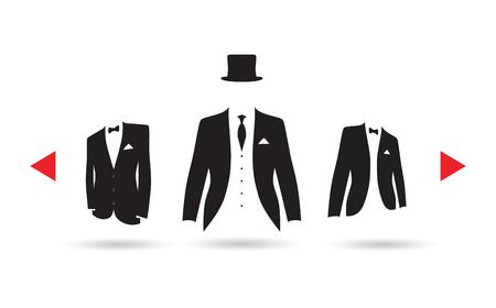 suit selection Illusztráció