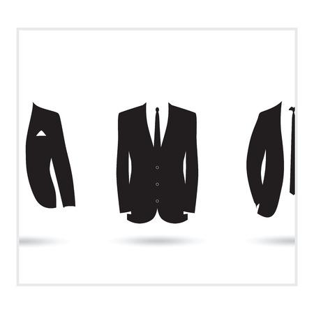 textiles: suit selection Illustration