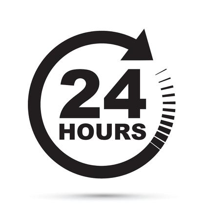 24-Stunden-Symbol Standard-Bild - 69115874