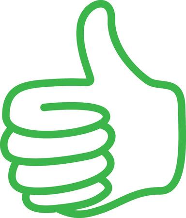 green thumbs up Illustration