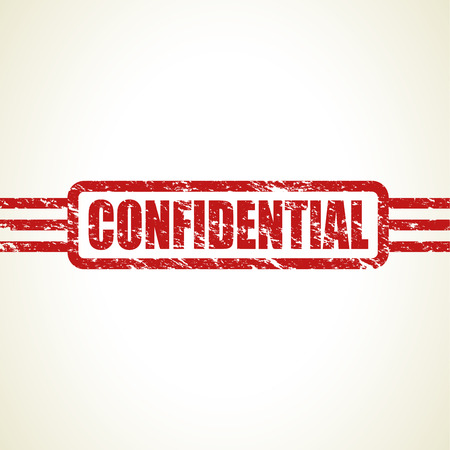 covert: confidential stamp Illustration