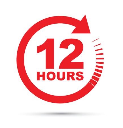 12 ore icona Vettoriali