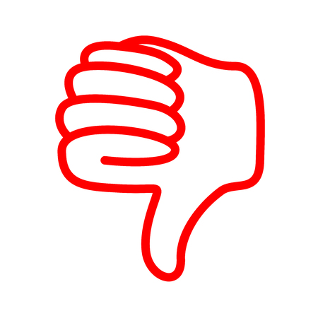 red thumbs down