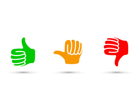 thumbs up set Stock Vector - 69115906