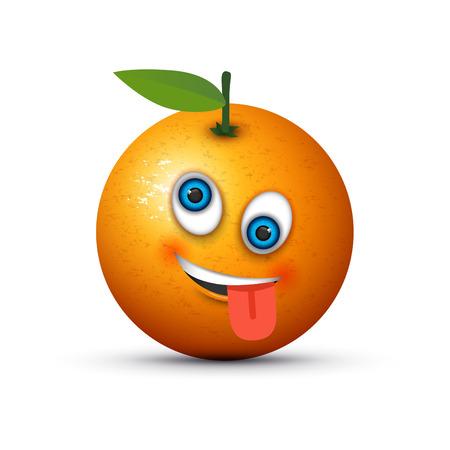orange crazy emoji Illustration
