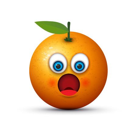 orange shocked emoji Illustration