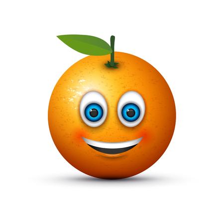orange rose: smiling emoji big realistic blue eyes