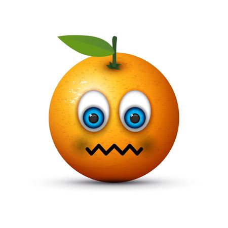orange sick emoji Illustration