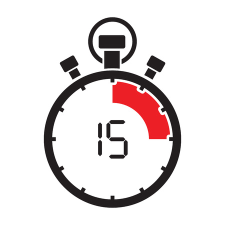 fifth teen minute stop watch countdown Illustration